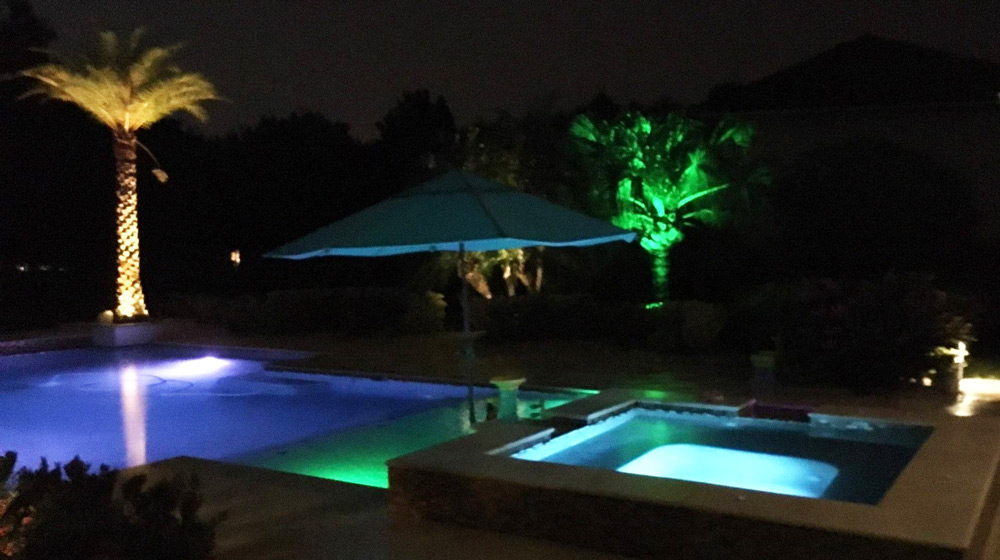 backyard led lighting